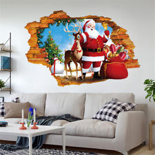 2018 Merry Christmas Bed Living Room Wall Sticker Mural Decor Decal Removable AU