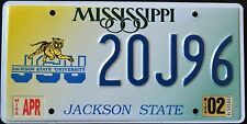 "MISSISSIPPI "" JACKSON STATE UNIVERSITY - JSU TIGER "" MS Specialty License Plate"