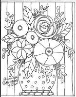 RUG HOOKING CRAFT PAPER PATTERN Prim Floral FOLK ART PRIMITIVE Karla Gerard
