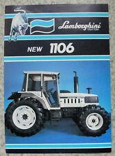 LAMBORGHINI 1106 Tractor Sales Spec Leaflet June 1986 #COD 308 2042 3.2