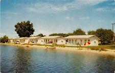 WINTER HAVEN FLORIDA SUN N SKI COURT BEACH COTTAGES POSTCARD c1960s