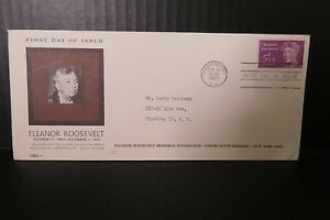 US First Day Cover  10/11/1963 Washington DC Eleanor Roosevelt