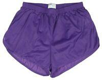 Soffe Purple Nylon Ranger Panties / Silkies / Running Track Shorts Men's Medium