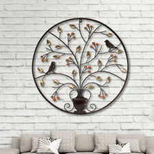 Metal Wall Mounted Art Decor Picture - TREE AND BIRD SCULPTURE 62CM XL HOME NEW