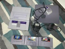 SNES console 1991 Mario Paint w/ mouse/pad. Mario World, cool spot, working, no