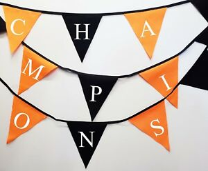 champions printed bunting with wolves flag colours - Wolverhampton wanderers