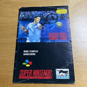 Super Nintendo SNES Manual Only FAH FRENCH DUTCH - International Tennis Tour