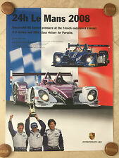 Porsche Original Factory Poster - 2008 Le Mans 24 Hour - RARE!