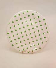 Fiestaware White Dinner Shamock Dots HLCCA Outlet Exclusive polka dot Plate