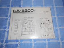 ORIGINAL PIONEER SA-5200 Schematic Diagram