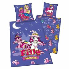 BETTWÄSCHE Filly Witchy Hexe 80 x 80 135/200 lila Flanell neu