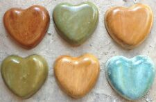 Hearts Set of Six, mold, plastic mold, concrete mold, cement, plaster, mould