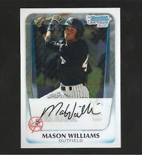 MASON WILLIAMS  2011 BOWMAN CHROME PROSPECT ROOKIE #BP85  QUANTITY HOT