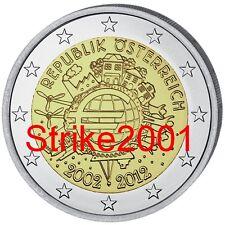 2 EURO COMMEMORATIVO AUSTRIA 2012 10° Anniversario