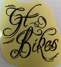 GT Decal Sticker Bikes Old Mid School BMX Park Street Racing Bikes Bicycle