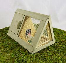 Dollhouse Miniature Fairy Garden Small Wood Chicken Coop, Bunny Hutch