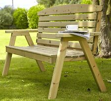 Hetton wooden Garden Bench by Tom Chambers Natures 123cm - Wood Furniture Seat