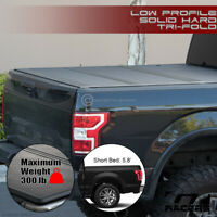 For 2019-2020 Dodge Ram 1500 5.7 Ft Bed Low Profile Hard Tri Fold Tonneau Cover