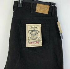 Polo Ralph Lauren Hampton Straight Black Jeans Dungarees Big Men's 46B x 30