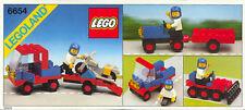 Lego Città   6654 Motorcycle Transport  (1983) Visita il mio Negozio