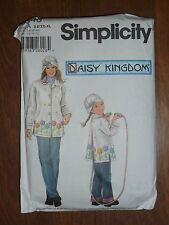 SIMPLICITY PATTERN #5946 DAISY KINGDOM FLEECE COAT/HAT- GIRLS 3-8 & MISSES XS-XL