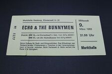Altes Konzertticket - Echo & The Bunnymen - Markthalle Hamburg - 9.3.1983