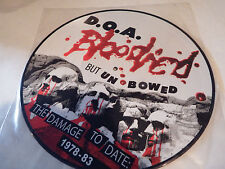 "D.O.A. BLOODIED BUT UNBOWED 12"" LP PICTURE DISC  - Brand New"