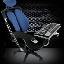 Ergonomic laptop/keyboard/mouse stand/mount/holderfor chair/office-Chrome-new