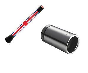 Auspuffblende + Design Antenne UK für MINI ONE COOPER R50 R52 R53 R55 R56 R57