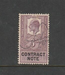 GB stamps - Pre Decimal King George V 3s Contract Note Fiscal