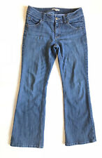 CAbi Women's Short Wide Leg Medium Wash Blue Denim Jeans Pants Size 8