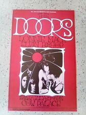 The Doors Poster 1st. First Print Cow Palace 1969 Bill Graham Bg-186 Randy Tuten