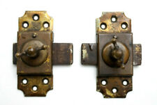 Lot of Antique Brass Brevet of Paris French Door Lock / Latch