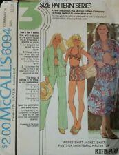 McCall/'s 7786 patrón de costura para hacer tirar-en holgada Pantalones//Pantalones