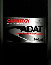 New Sealed Quantegy ADAT DM-42 DM42 42 Min Master Digital Audio Cassette Tape