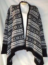 Women's Black & White Cardigan Sweater Size Medium NWT