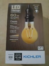 Decorative LED Light Bulb 60-Watt Equivalent Dimmable Amber A19 Vintage Indoor