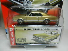 2016 AUTO WORLD 1:64 *PREMIUM 5D* GOLD 1966 Oldsmobile Olds 442 *NIP*