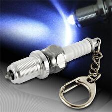 LED Key Chain Spark Plug Key Chain Keychain Car Parts Keyring Key Fob Metal