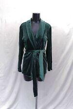 Monki Women's Velvet Belted Blazer SV3 Green Size XS NWT