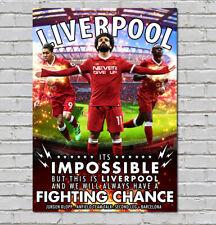 Liverpool Champions Europe poster Salah Firminio Mane Large 60x40cm Madrid 2019