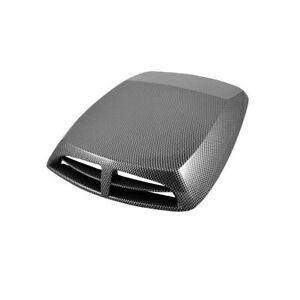 Dummy Car Air Flow Intake Hood Scoop Vent Bonnet Cover Carbon Fibre Look 25x33CM
