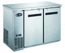 """Saba 48"""" Stainless Steel Back Bar Refrigerator & Beverage Cooler, 24"""" Depth"""
