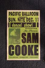 Sam Cooke 1955 Poster Pacific Ballroom San Diego Califo