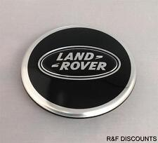 x1 Genuine Land Rover Black Chrome Wheel Centre Cap Discovery 2,3,4 Freelander 2
