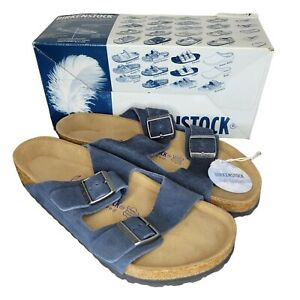 BIRKENSTOCK Arizona Slide Slip On Beach Sandals Flip Flop Navy 252911 SZ M 10