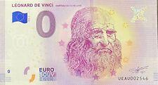 BILLET 0  EURO  LEONARD DE VINCI CLOS LUCE FRANCE 2018 NUMERO DIVERS