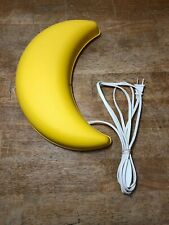 EUC Ikea Yellow Half-Moon Shaped Wall Light Nightlight TESTED