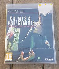 SHERLOCK HOLMES CRIMES & PUNISHMENTS Jeu Sony PS3 Playstation 3 Neuf Blister VF