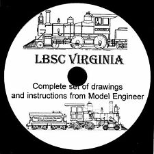 """""""Virginia"""" by LBSC 1956 ME Article about Live Steam Model Locomotive on CD-ROM"""